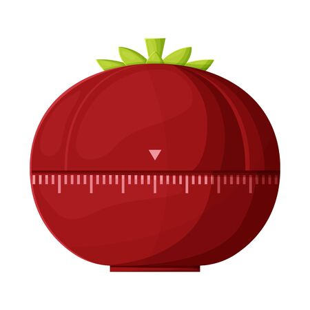 Vector illustration of timer and tomato sign. Graphic of timer and clock vector icon for stock.