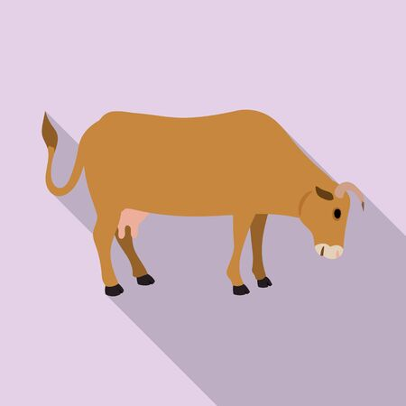 Cow of animal vector icon.Flat vector icon isolated on white background cow of animal. Ilustrace