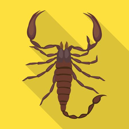 Scorpion vector icon.Flat vector icon isolated on white background scorpion. Stock fotó - 140359416