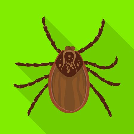 Mite vector icon.Flat vector icon isolated on white background mite.