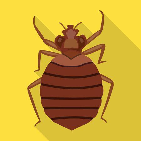 Bedbug vector icon.Flat vector icon isolated on white background bedbug .