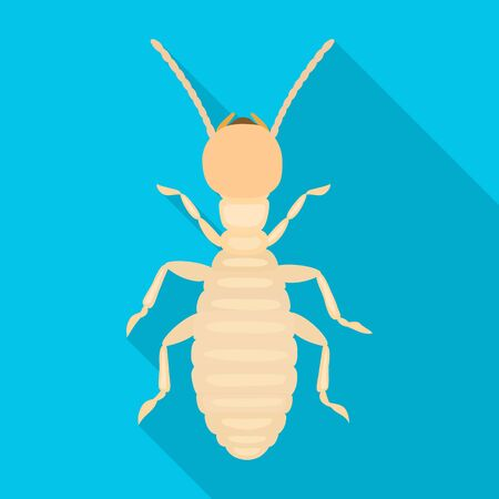 Worker termite vector icon.Flat vector icon isolated on white background worker termite.