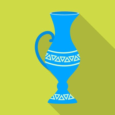 Pottery vase vector icon.Flat vector icon isolated on white background pottery vase.