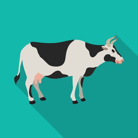 Cow vector icon.Flat vector icon isolated on white background cow.
