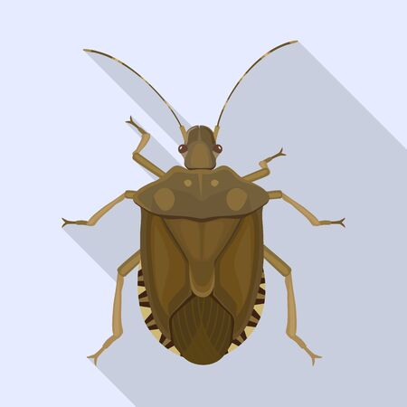 Bug stink vector icon.Flat vector icon isolated on white background bug stink.  イラスト・ベクター素材