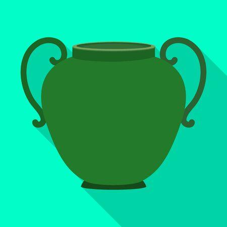 Ceramic vase vector icon.Flat vector icon isolated on white background ceramic vase .