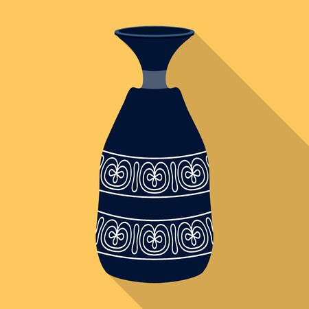 Flower vase vector icon.Flat vector icon isolated on white background flower vase .