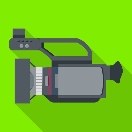 Video camera vector icon.Flat vector icon isolated on white background video camera. Ilustração