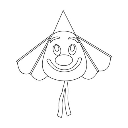 Kite clown vector icon.Outline vector icon isolated on white background kite clown .