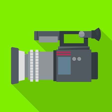 Video camera vector icon.Flat vector icon isolated on white background video camera.  イラスト・ベクター素材