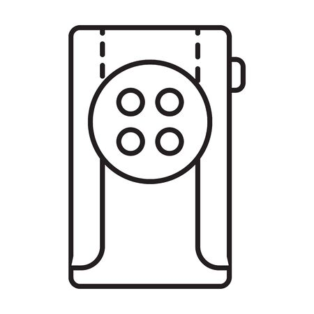 Flashlight vector icon.Outline,line vector icon isolated on white background flashlight .  イラスト・ベクター素材