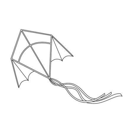 Kite bird vector icon.Outline vector icon isolated on white background kite bird .