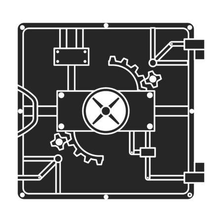 Door of storage vector icon.Black vector icon isolated on white background door of storage .