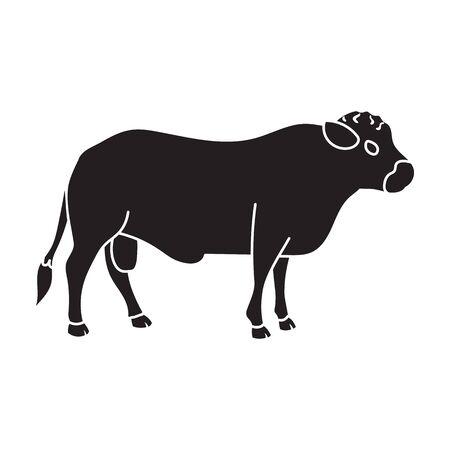 Bull vector icon.Black vector icon isolated on white background bull. Ilustração Vetorial