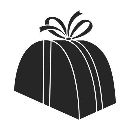 Giftbox vector icon.Black vector icon isolated on white background giftbox. Illustration