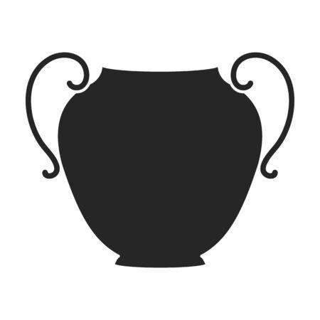 Ceramic vase vector icon.Black vector icon isolated on white background ceramic vase . Vettoriali