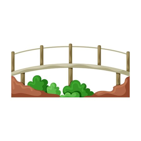 Bridge vector icon.Cartoon vector icon isolated on white background bridge.