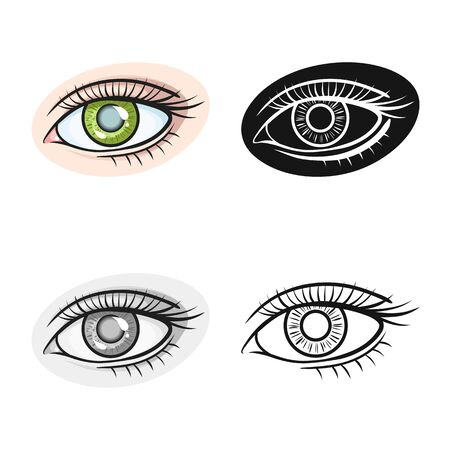 Vector design of eye and eyesight icon. Web element of eye and diagnostic stock vector illustration. Ilustracja