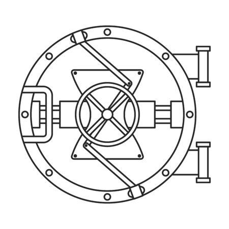 Door of storage vector icon.Outline vector icon isolated on white background door of storage . Vektorgrafik