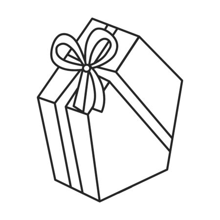 Giftbox vector icon.Outline vector icon isolated on white background giftbox.