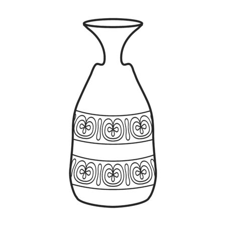 Pottery vase vector icon.Outline vector icon isolated on white background pottery vase. Vecteurs