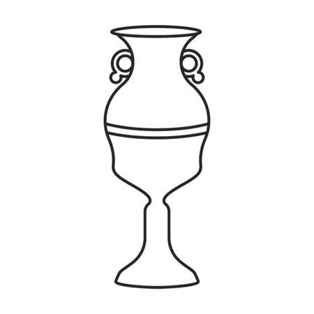 Ceramic vase vector icon.Outline vector logo isolated on white background ceramic vase .