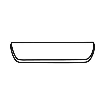 Vector illustration of cutlet and sausage symbol. Web element of cutlet and product stock symbol for web.