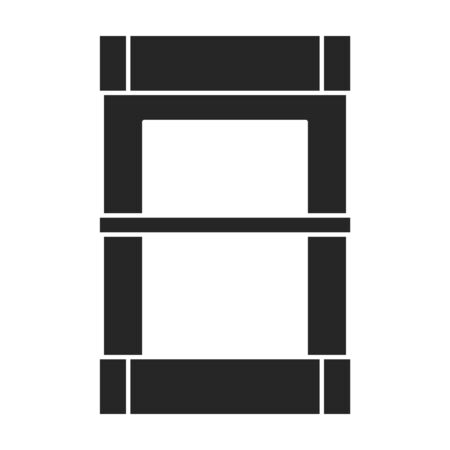 Lift vector icon.Black vector icon isolated on white background lift.