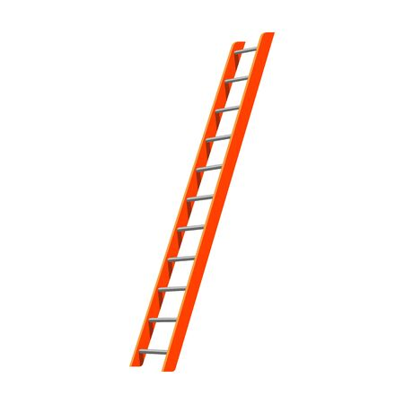Ladder vector icon.Cartoon vector icon isolated on white background ladder.
