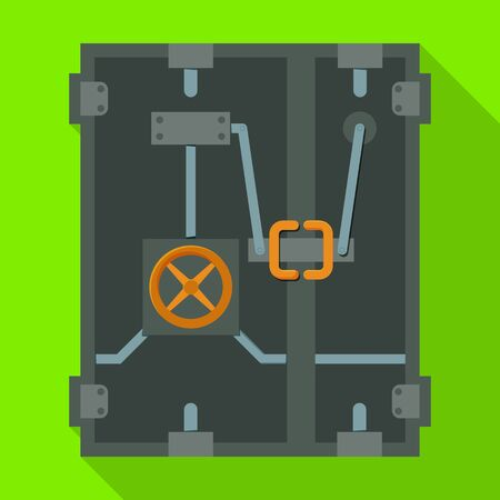 Safety door vector icon.Flat vector icon isolated on white background safety door .