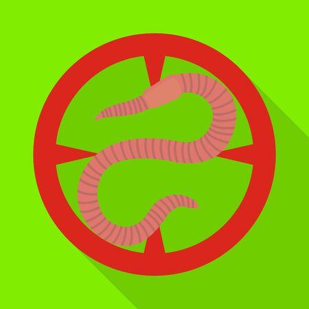 Earthworm vector icon.Flat vector icon isolated on white background earthworm. 일러스트