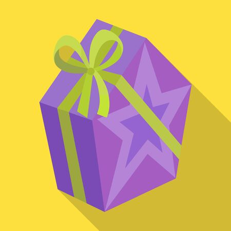Giftbox vector icon.Flat vector icon isolated on white background giftbox. Illustration