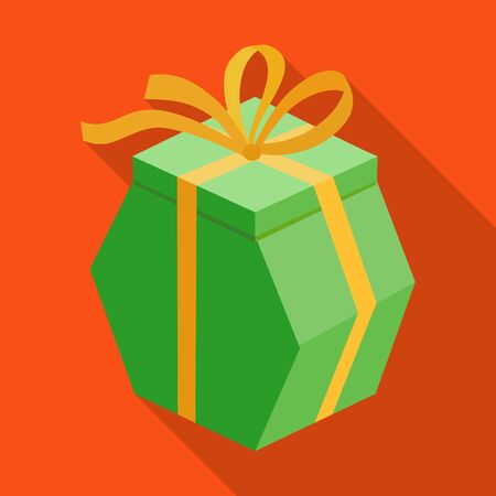Present box vector icon.Flat vector icon isolated on white background present box.
