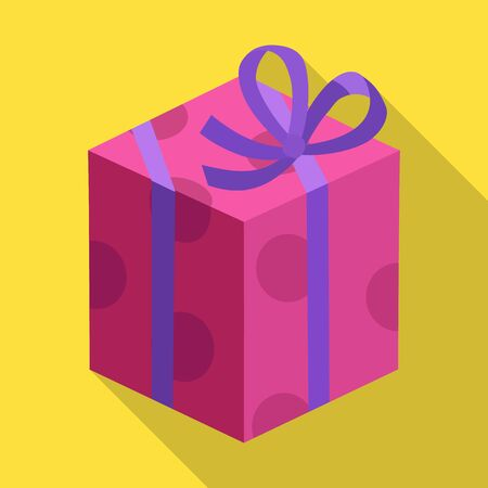Gift box vector icon.Flat vector icon isolated on white background gift box.