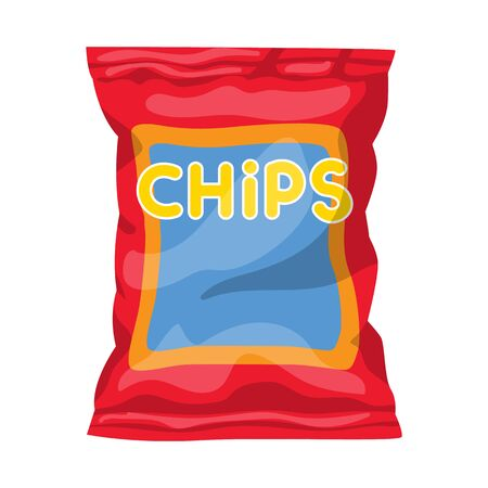 Vector illustration of chip and fluted logo. Web element of chip and crunchy stock vector illustration.