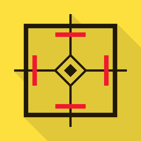 Eye target vector icon.Flat vector icon isolated on white background eye target. Ilustração
