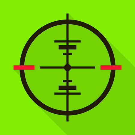 Eye target vector icon.Flat vector icon isolated on white background eye target.