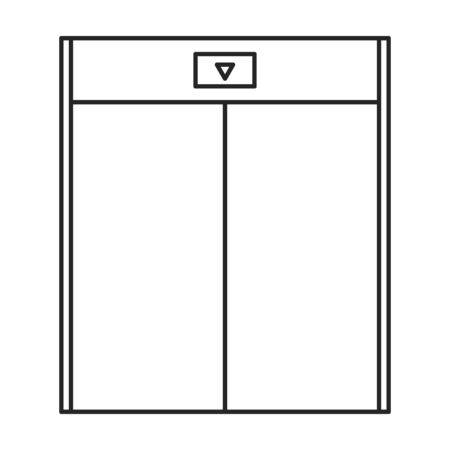 Elevator vector icon.Outline vector icon isolated on white background elevator.