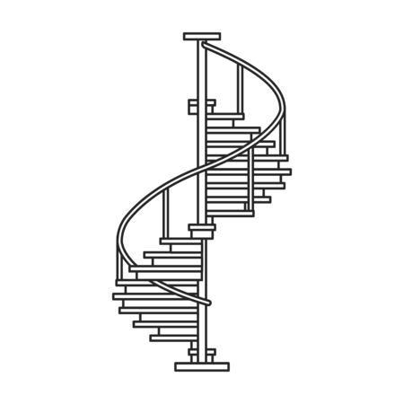 Metal staircase vector icon.Outline vector icon isolated on white background metal staircase.
