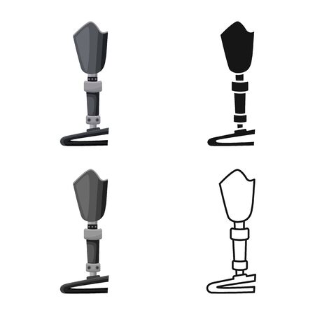 Isolated object of leg and prosthesis icon. Graphic of leg and limb stock vector illustration. Illusztráció