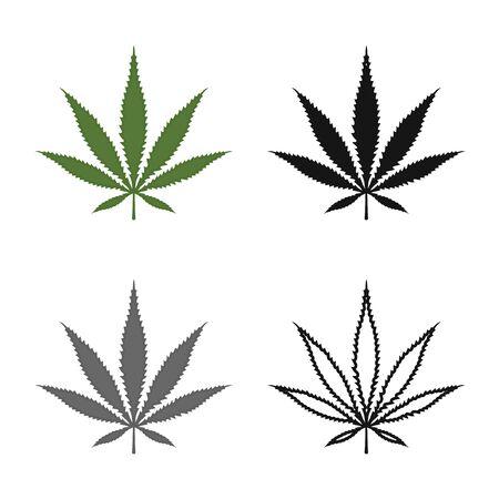 Vector design of hemp and cannabis symbol. Web element of hemp and leaf stock vector illustration.