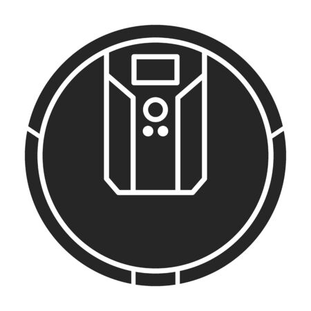 Cleaner of robot vector icon.Black vector icon isolated on white background cleaner of robot .