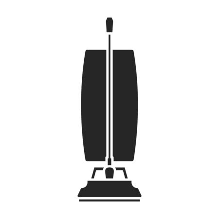 Vacuum cleaner vector icon.Black vector icon isolated on white background vacuum cleaner .