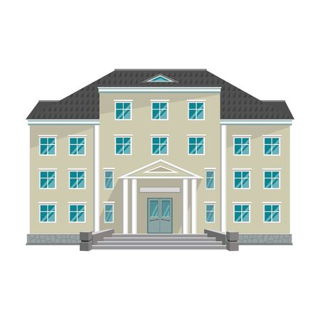Building of government vector icon.Cartoon vector icon isolated on white background building of government .