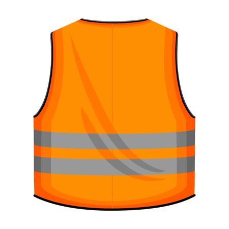 Safety vest vector icon.Cartoon vector icon isolated on white background safety vest. Vetores