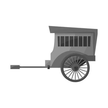Isolated object of brougham and old symbol. Web element of brougham and wagon vector icon for stock.