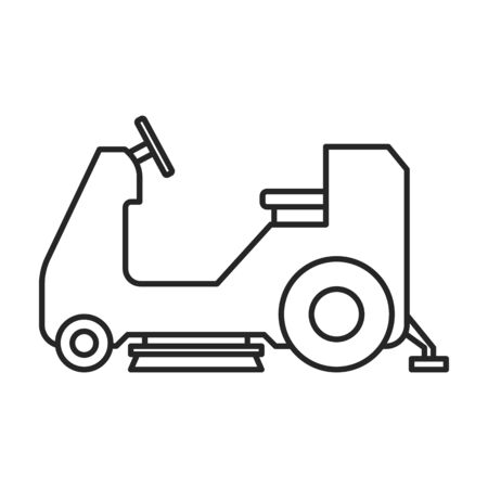 Vacuum cleaner vector icon.Outline vector icon isolated on white background vacuum cleaner . Illustration
