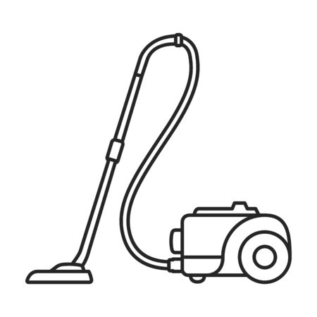 Vacuum cleaner vector icon.Outline vector icon isolated on white background vacuum cleaner . Çizim