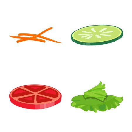 Vector design of sandwich and snack sign. Set of sandwich and fastfood stock symbol for web.