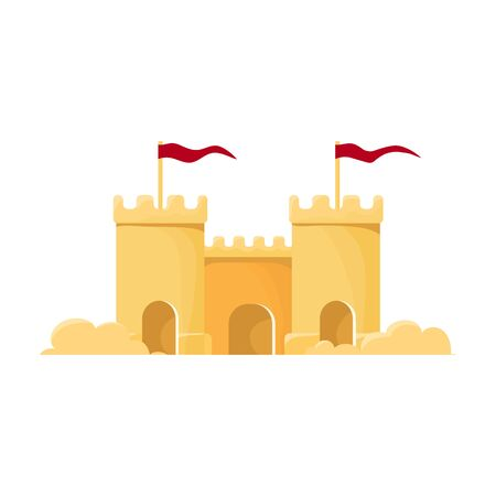 Sand castle vector icon.Cartoon vector icon isolated on white background sand castle .